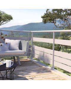 Garde-corps en aluminium vissés, pour vos escaliers extérieurs, votre terrasse surélevée ou votre balcon nécessitant d'être sécurisés pour éviter tout risque de chute. Installé par monsieur store Cassis