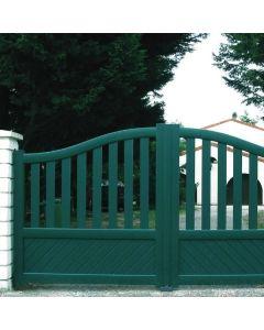 Le portail en aluminium Logis : Insensible aux dommages causés par le temps, par la corrosion et par les intempéries. Installé par monsieur store Aubagne